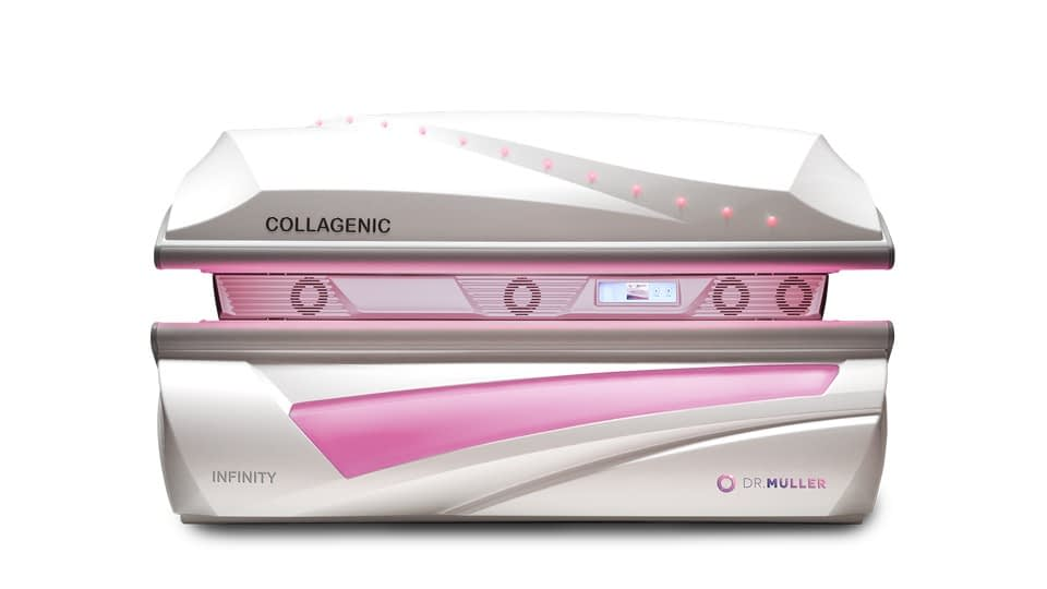 Dr. Müller Infinity Collagenic Red Light Therapy device front closed