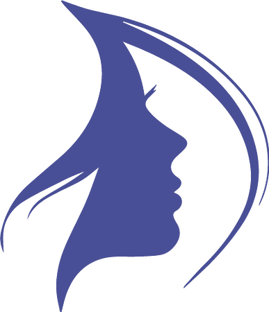 silhouette woman face