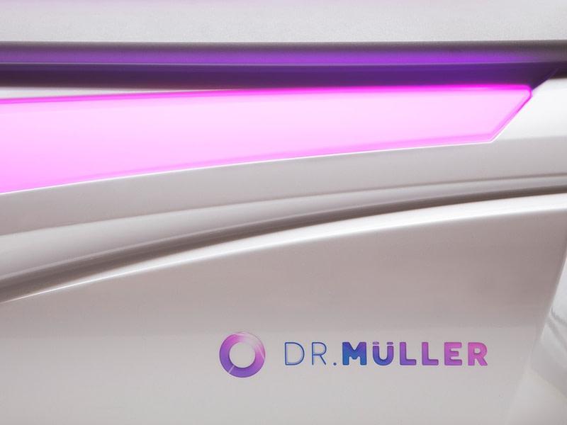 Dr. Mulller logo on the Omega