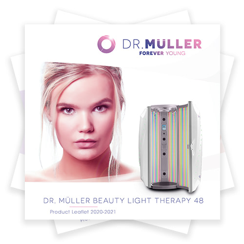 Dr. Muller Beauty Light Therapy 48 product leaflet