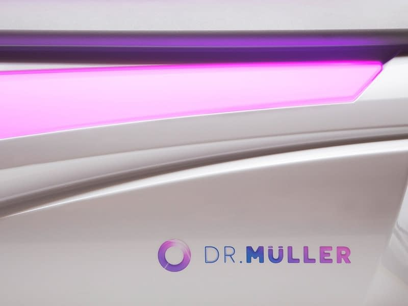 Dr. Mulller logo on the Omega