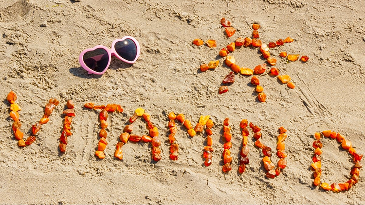 Vitamin D beach sand