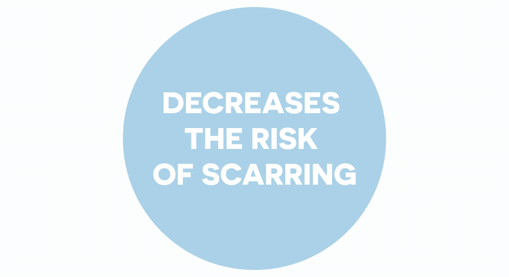 Dr. Muller decreases the risk of scarring